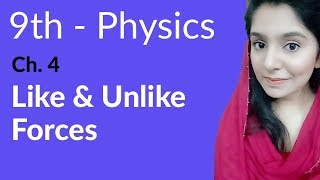 Like and Unlike Forces - Physics Chapter 4 Turning Effect of Forces - 9th Class