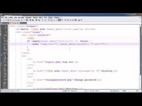 PHP Tutorials: Register & Login (Part 23): Profile Image Upload (Part 1)