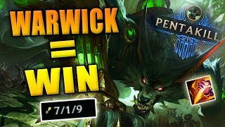 WARWICK = WIN -  League of Legends - Warwick Jungle