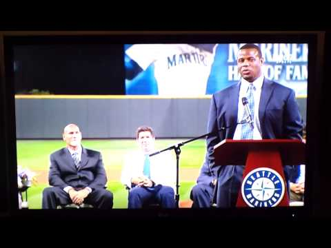 Ken Griffey Jr. HALL OF FAME SPEECH!!! Jay Buhner flips him off, gives him the middle finger!!!