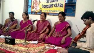 vocal students of Guruji Sri MANDA KRISHNA MOHAN- Part-1