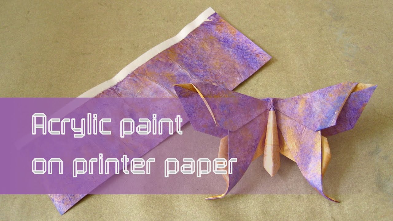 origami paper instructions acrylic paint on printer paper