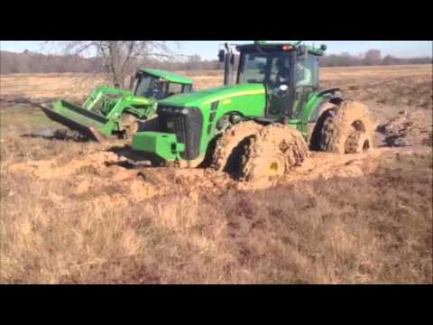 Tractors stuck in the mud!