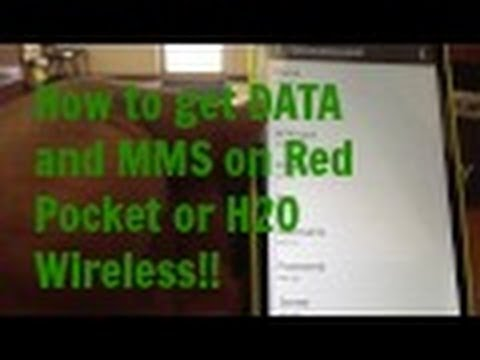 How To Get Data And MMS On Red Pocket Mobile/H2O Wireless