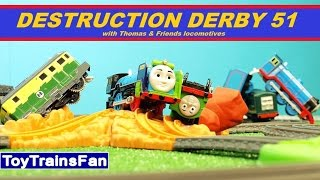 Trackmaster Destruction Derby #51  - Thomas & Friends accidents. Tomek i Przyjaciele zderzenia