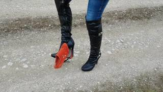 Ankle Boot Crush with Black Boots Part 2