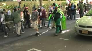 Antifa vs Patriots Battle Hard (Riot) Portland Oregon June 30th 2018