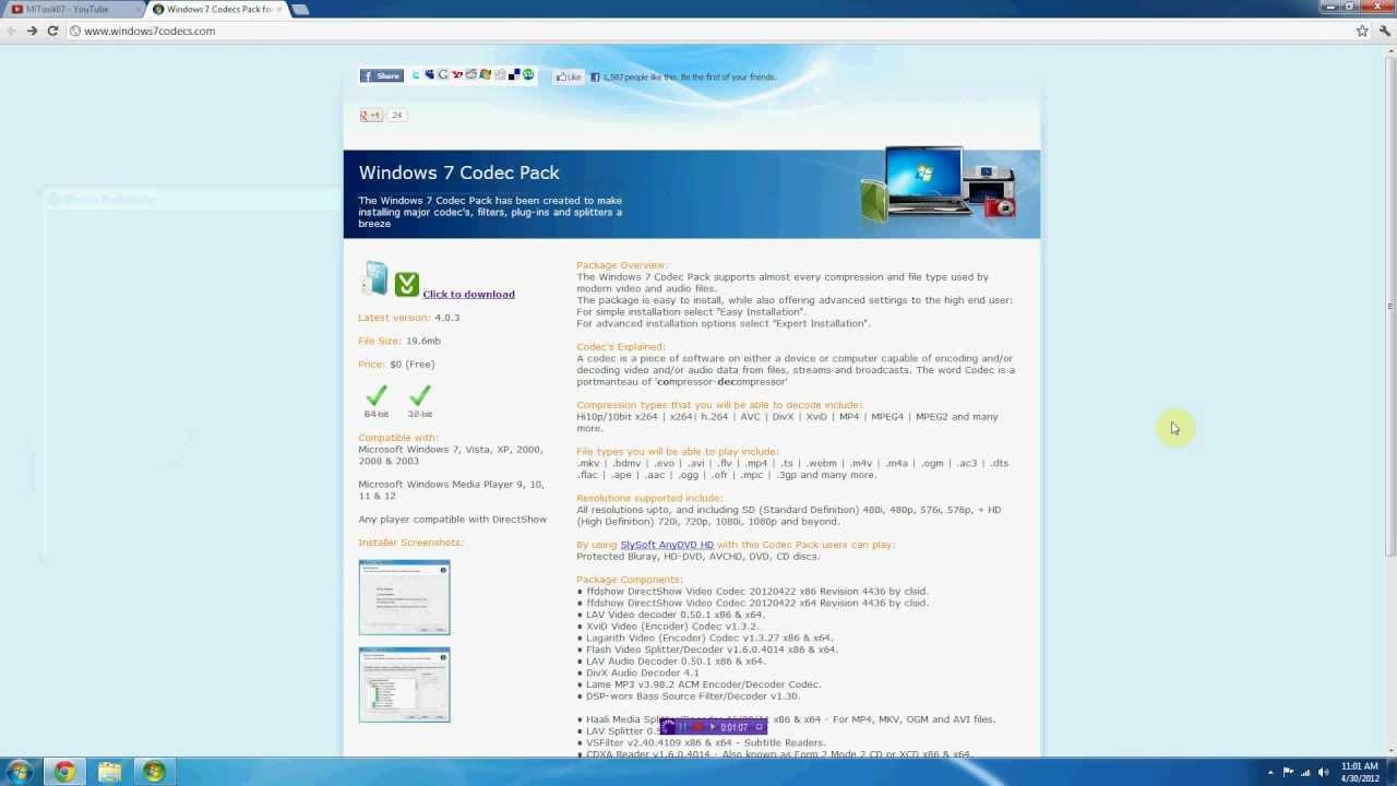 xvid codec windows 7