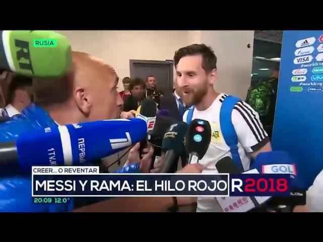 """""""El hilo rojo"""": el amuleto de la suerte que usó Messi en el partido"""