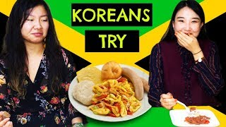 KOREANS TRY JAMAICAN FOOD!