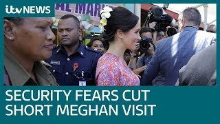 Meghan's visit to Fiji market cut short as crowds spark security concerns | ITV News