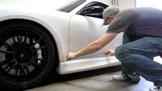 Porsche Cayman RS checker stripes install