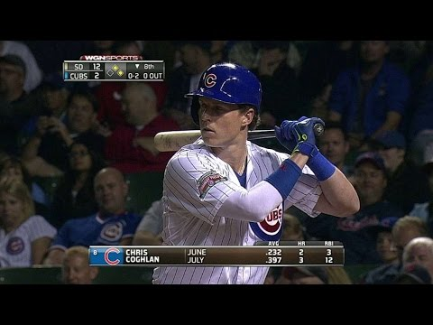 SD@CHC: Coghlan lines an RBI single to left field
