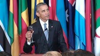 The President Speaks at a U.N. Luncheon