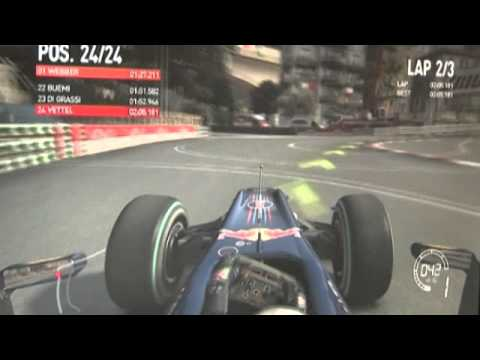 F1 2010 by Codemasters - Monaco with Red Bull Racing (Gamescom)