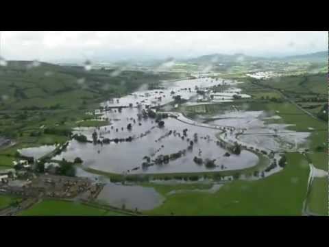 Northern England floods: Aerial images of the damage
