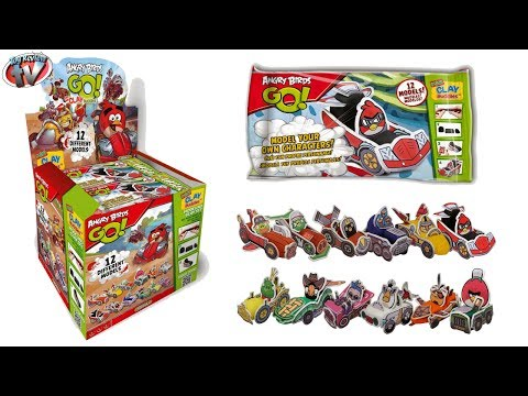 Angry Birds GO! Mini Clay Buddies Mystery Blind Bag Toy Review, Giromax