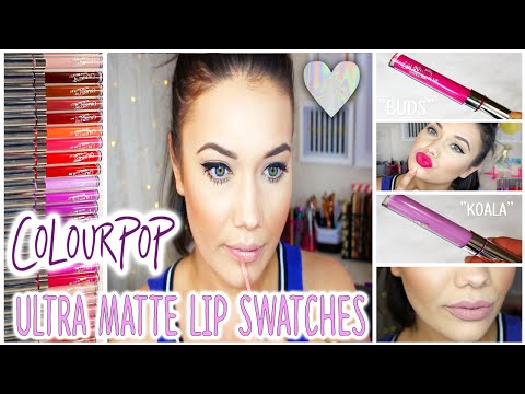 Watch Me Try: 25 Colour Pop ULTRA MATTE LIPS + Lip Swatches!