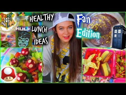 Healthy Lunch Ideas for School: Fan Edition