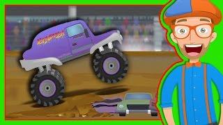 Monster Trucks for Children with Blippi   The Monster Truck Song