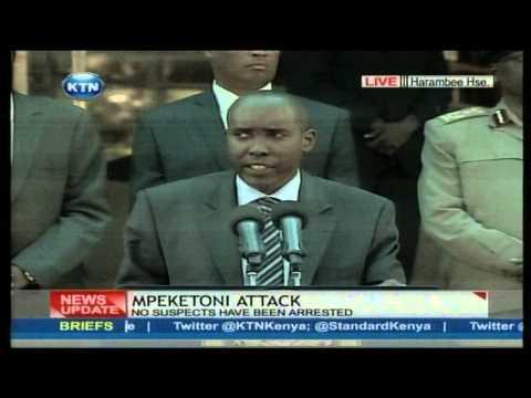 Interior CS Joseph Ole Lenku's Press briefing on the Mpeketoni attack