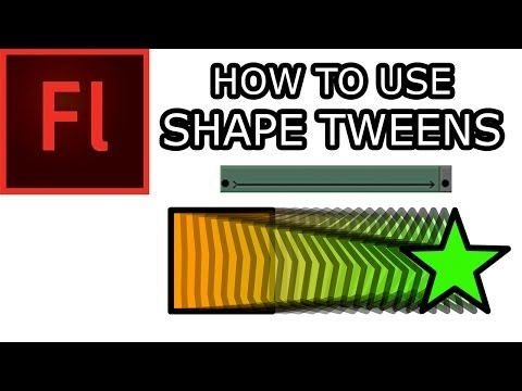 How to Shape Tween in Flash CS5: 001 Shape Tweens