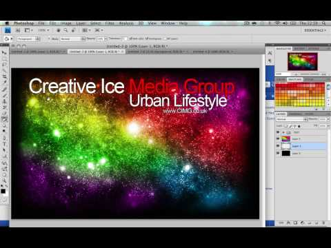 Photoshop tutorial : How to make a custom myspace 2.0 layout Video