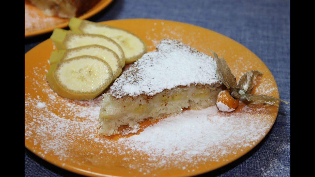 Манник в духовке с бананом рецепт с пошагово