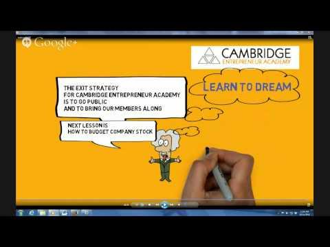 CAMBRIDGE ENTREPRENEUR ACADEMY MAKE MONEY. BE SUCCESSFUL. CLASSROOM WITH JOHN SORTINO & MYCHAL C...