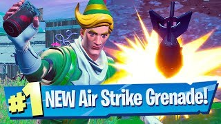 NEW Air Strike Item Gameplay - Fortnite Battle Royale