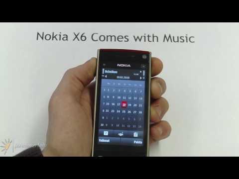 Nokia X6 - käyttöliittymä