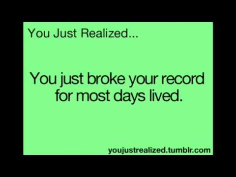 You just realized... - YouTube