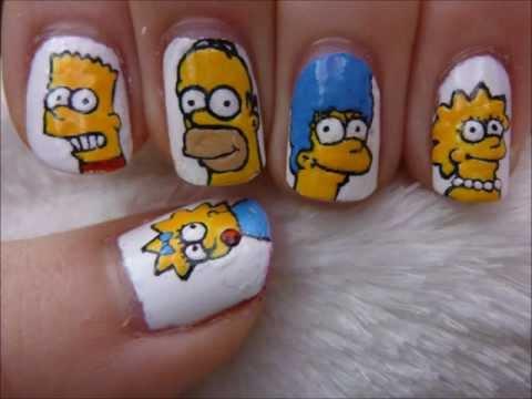 Simpsons Nail Art