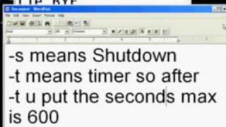 Shutdown Computer using notepad