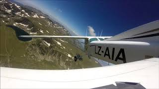 Flight tour by plane over the Seven Rila lakes