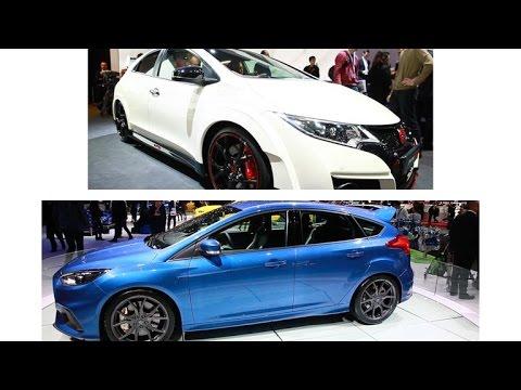 Car Tech - Hot hatch shootout: Honda Civic Type R vs. Ford Focus RS in Geneva