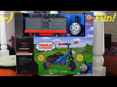 Thomas the Tank Engine Trike w/ Coal Tender Unboxing and Assembling w/ Maya