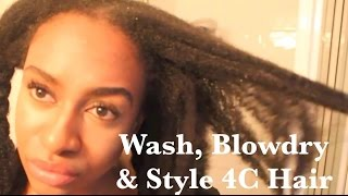 Easy Regimen - Condition, Blowdry & Style Long 4C Hair