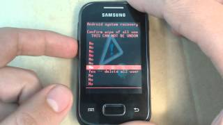 Samsung Galaxy Pocket S5300 - How to reset - Como restablecer datos de fabrica
