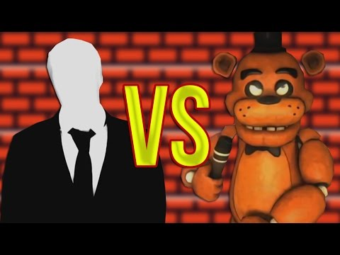 5 Ночей с Фредди VS Слендермен | СУПЕР РЭП БИТВА | Five Nights At Freddy's FNAF Против Slender man