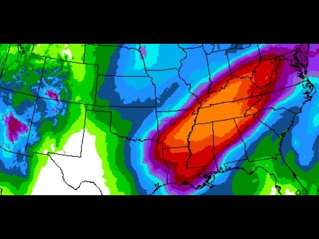 Alert! Danger! 10 days of Rain for Middle USA  Hawaii Rains  Next California Storm