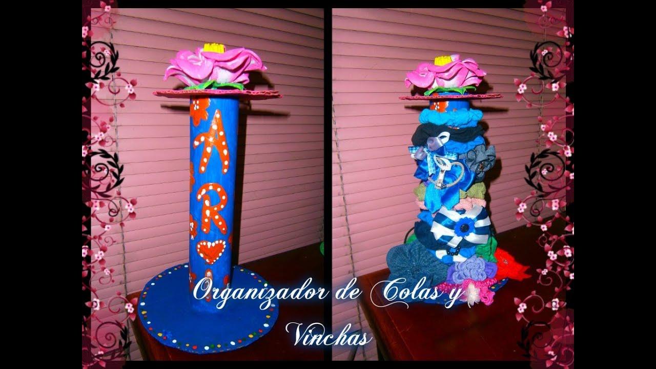 Organizador de gomitas o colas y vinchas how to organize - Material para hacer diademas ...