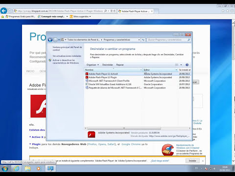 Adobe Flash Player Active X y Plugin (2 en 1) Windows 7