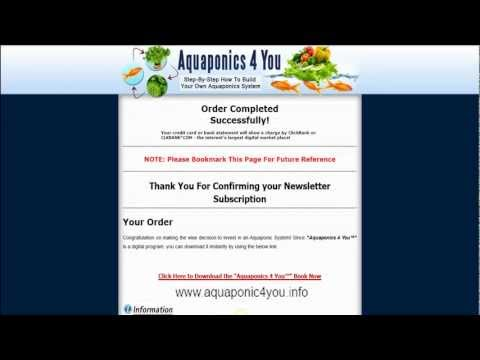 Aquaponics 4 You Review - How To Build An Aquaponic System