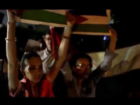 Manifestation pro-Gaza, devant la résidence de l'Ambassadeur de France à Tunis