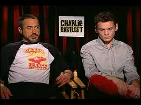 Robert Downey Jr Anton Yelchin interview Charlie Bartlett