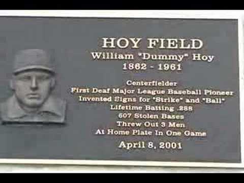 William Dummy Hoy Baseball Field YouTube