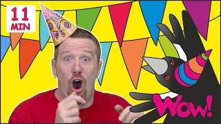Maggie´s Birthday + MORE Magic Stories for Kids from Steve and Maggie | Learn Wow English TV