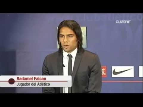Falcao García se presentó al Atlético Madrid