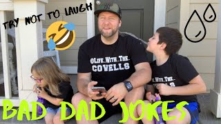 TRY NOT TO LAUGH CHALLENGE 2019   Cringy Bad Dad Jokes   Knock Knock Jokes   😂😂😂